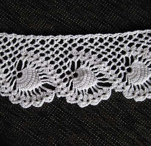 Crochet Edging Patterns pineapple swirl edging crochet pattern nprfzfl