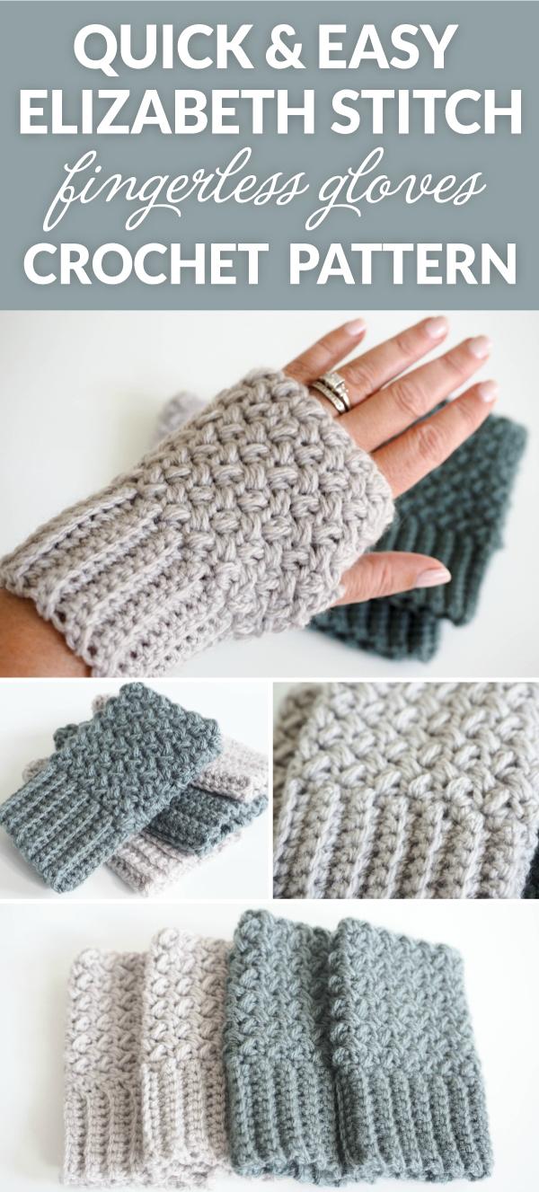 crochet fingerless gloves easy elizabeth stitch fingerless gloves crochet pattern glhpoff