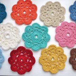 crochet flowers crochet flower doily ftysfyg