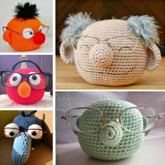 crochet gifts crochet muppet glasses holder pmxogkr ckhaudr