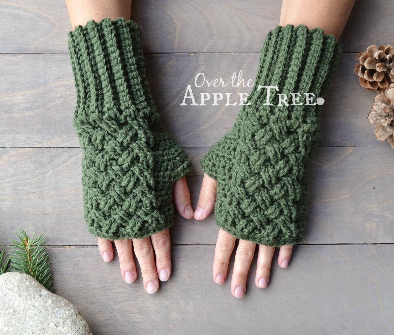 crochet gloves celtic weave fingerless gloves, pattern by over the apple tree udcdicx