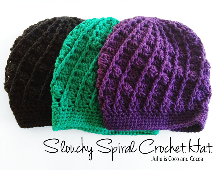crochet hat patterns slouchy spiral crochet hat (free pattern) mkgeobc