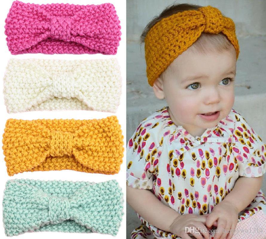 crochet headbands baby girls 14 inch wool crochet headband handmade knit hairbands childrenu0027s  hair wxbrcet