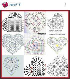 Crochet Heart Pattern crochet lace hearts with diagram kkkvkxd