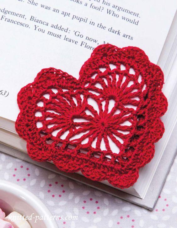 Crochet Heart Pattern heart bookmark free crochet pattern uhpcmgu