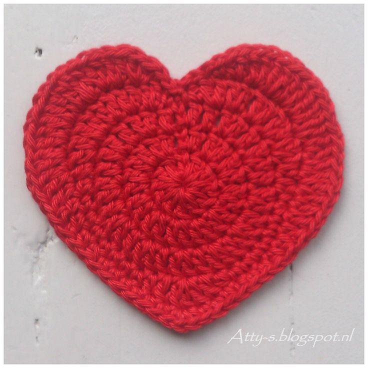 Crochet Heart Pattern heart coaster pattern by atty van norel rzncjjk