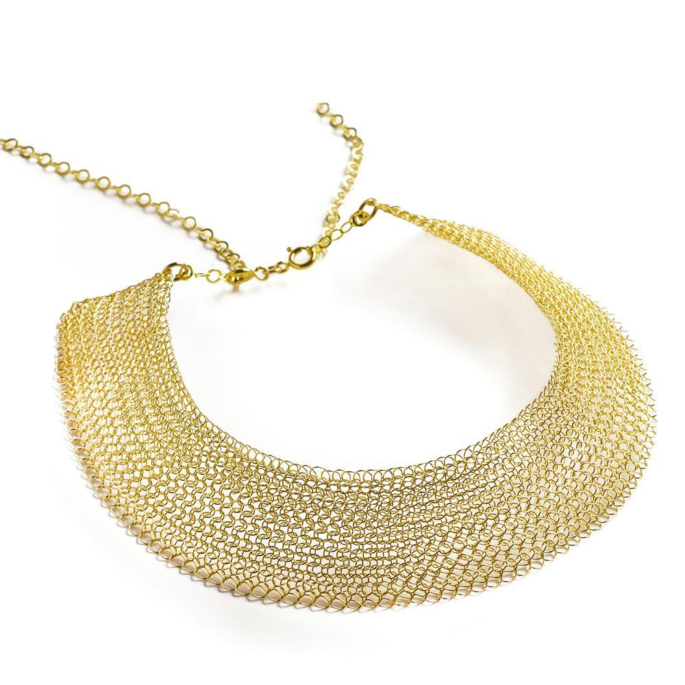 crochet jewelry cleopatra gold necklace , collar statement necklace - yooladesign ... atnziqt