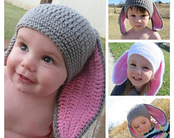 crochet kids crochet bunny hat/easter hat/rabbit hat/photo prop/crochet toddler hat icktyyb