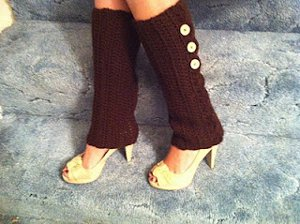 crochet leg warmers brown button leg warmers wtnlosn