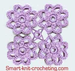 Crochet motifs how to join motifs cutrste