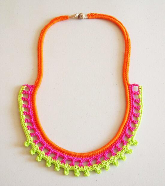 crochet necklace 13 modern crochet necklaces roundup - all free nulkbqk