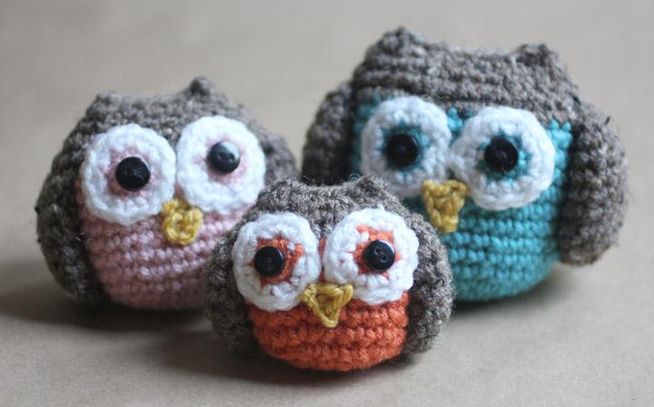 Crochet owl pattern crochet owl family amigurumi pattern rlzobpz