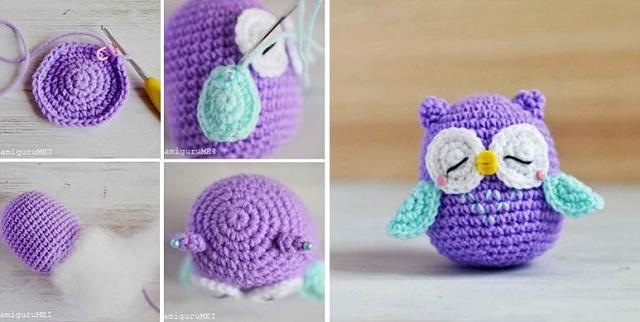 Crochet Owl Pattern – in Kids Fabrics