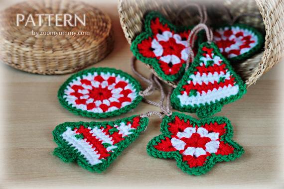 crochet pattern - crochet christmas ornaments wpjcbts