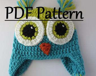 crochet pattern owl hat, owl hat, crochet owl hat pattern, crochet owl ftexoco
