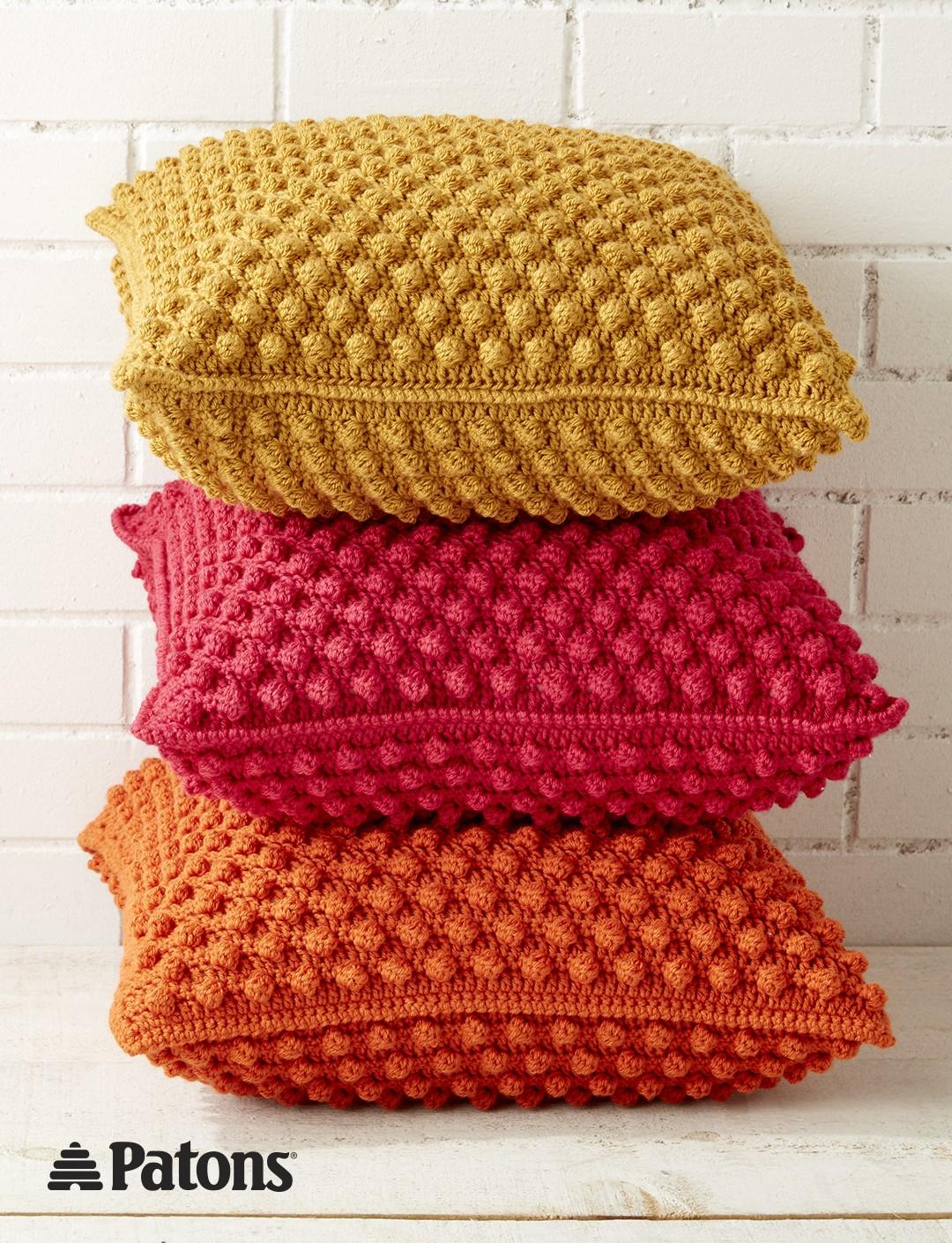 crochet pillow bobble-licious pillows mebnpqa