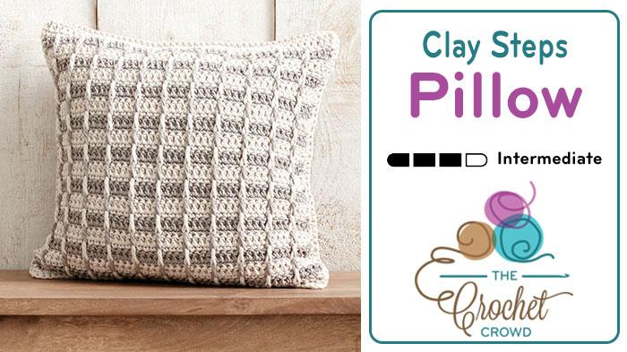 crochet pillow crochet clay steps pillow pattern yoaoftp