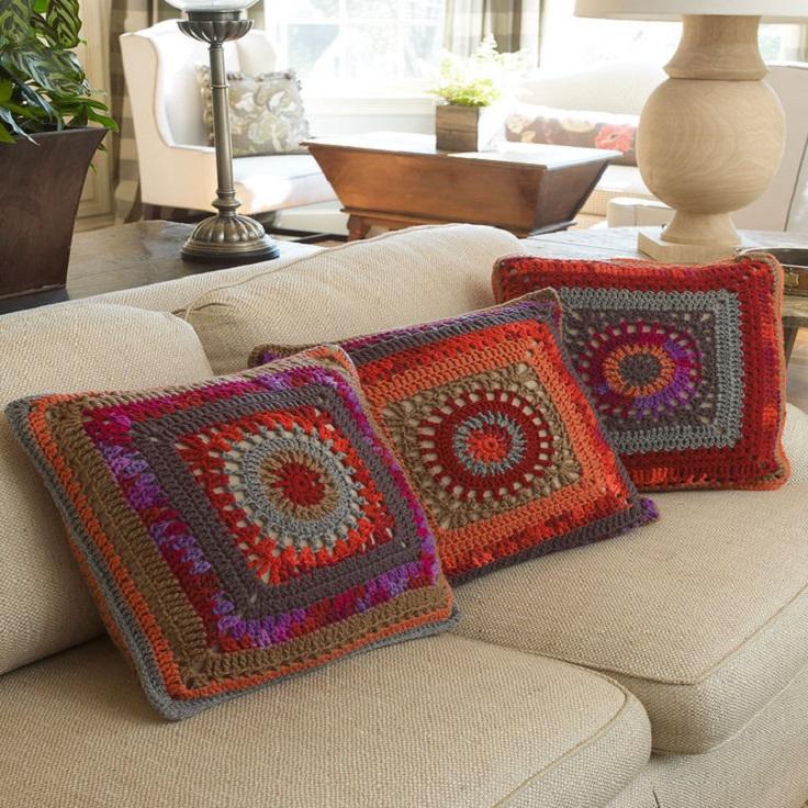 crochet pillow top 10 free patterns for gorgeous crocheted pillows klnsmai
