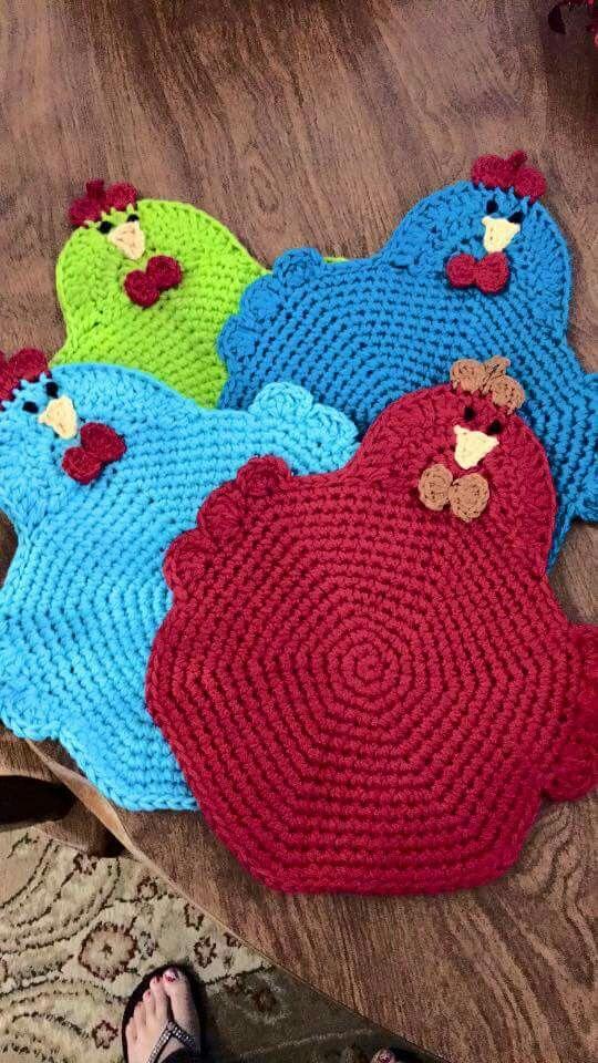 crochet pot holders chicken potholders more kualvuq