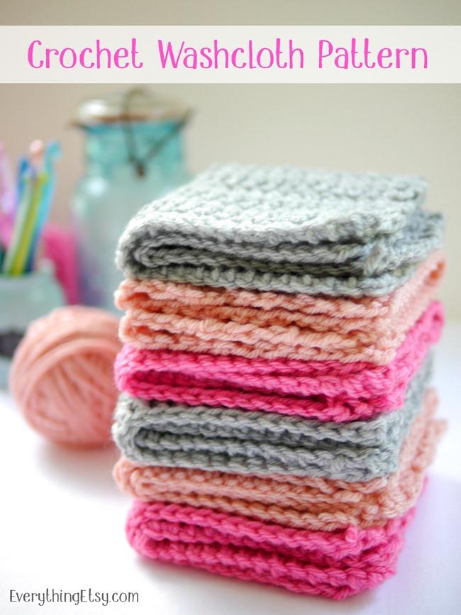 crochet projects crochet washcloth pattern - free on everythingetsy.com cpyosod