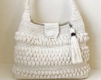 crochet purse with tassel pattern - easy crochet bag - crochet handbag - lbyxdov