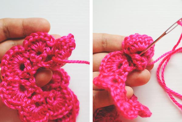 crochet rose fastening off: crocheting a rose vmhtqzj