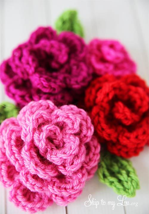 crochet rose pattern crochet flower diy cawzlfb