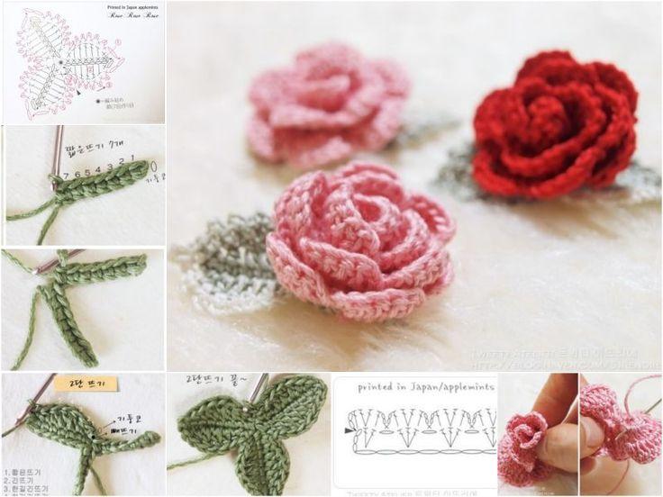 crochet rose pattern diy crochet rose with free pattern wtvqiln chrejms