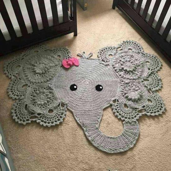 crochet rug crochet elephant rug pattern cudfdiy
