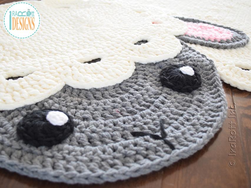 crochet rug crochet pattern pdf by irarott for making an easter lamb rug or sheep ekngfoa