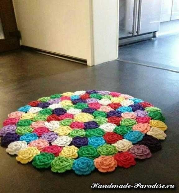 crochet rug crochet rose rug tutorial in rainbow colors zpsdgii