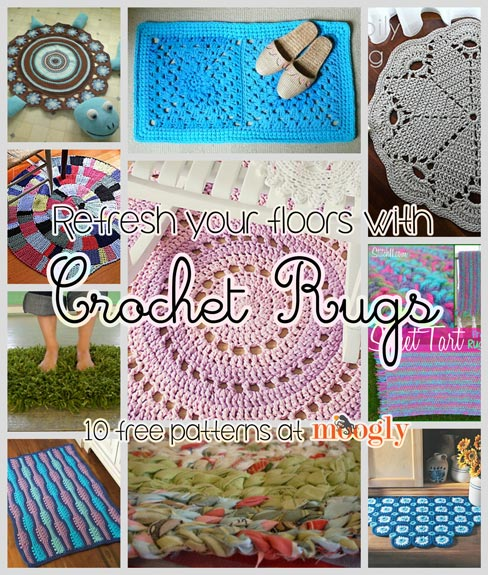 crochet rug patterns refresh your floors with crochet rugs: 10 free patterns! ozutzyr