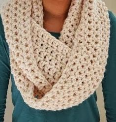 crochet scarf cozy infinity scarf puzpdlv