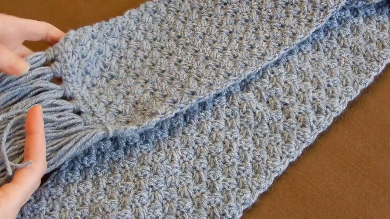 crochet scarf tutorial   easy elegant and simple   beginner level amezsyu
