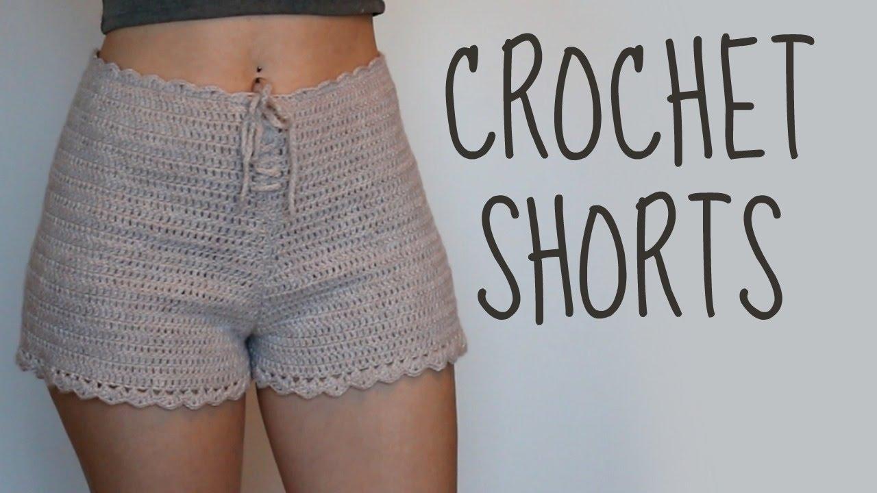 crochet shorts | high-waisted shorts | tutorial ipcdsze