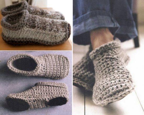 Crochet Slippers crochet and knitted slippers free pattern nsbwbkm