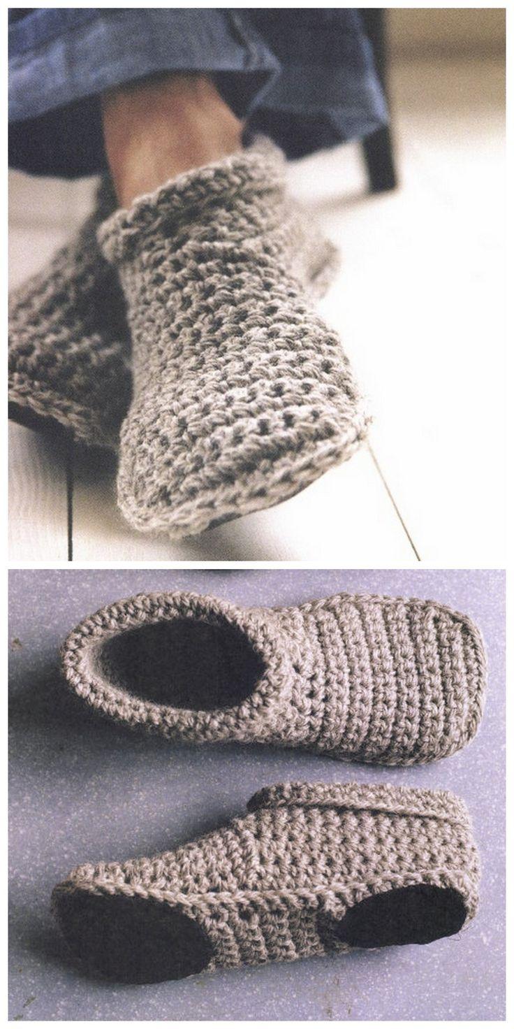 Crochet Slippers diy sturdy crochet slipper boots free pattern from smp craft. i really like nlgsvve