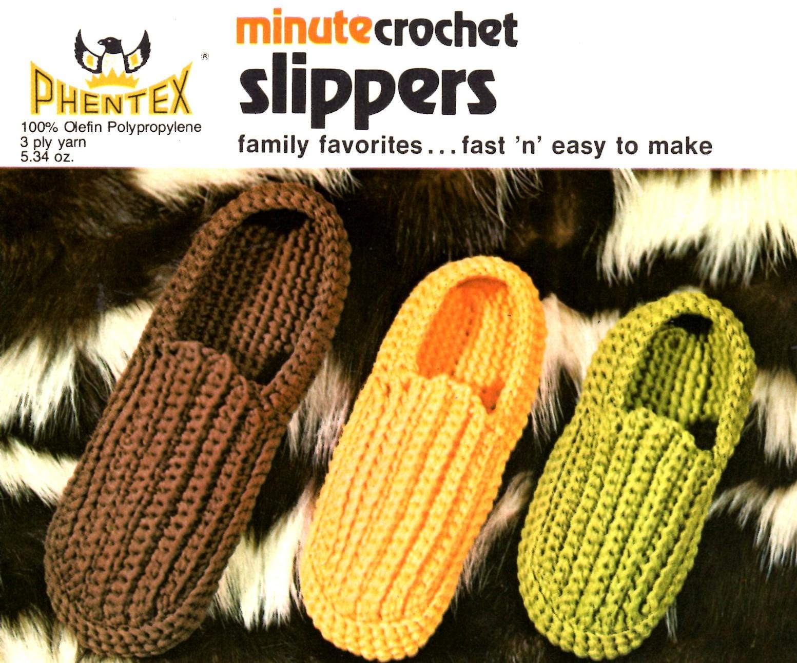 Crochet Slippers minute crochet slippers pattern ybldizn
