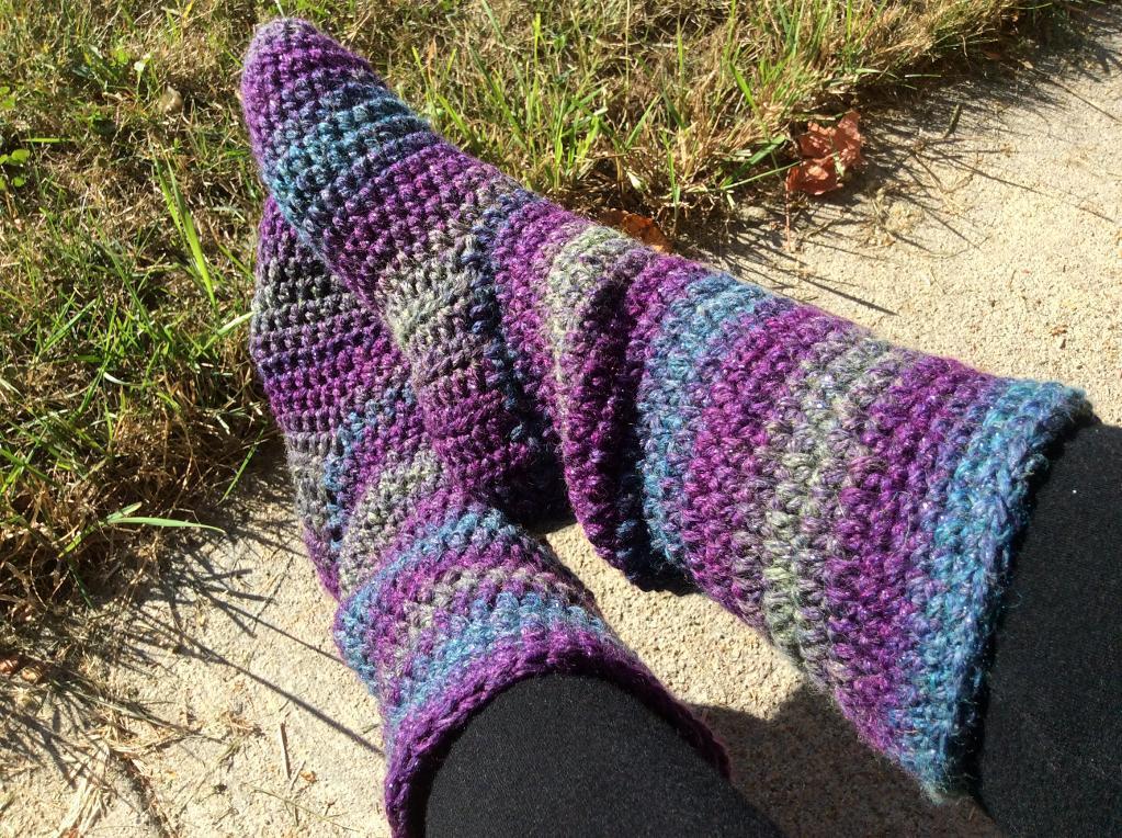 crochet sock pattern basic slipper boots for women free crochet pattern pzekjvq