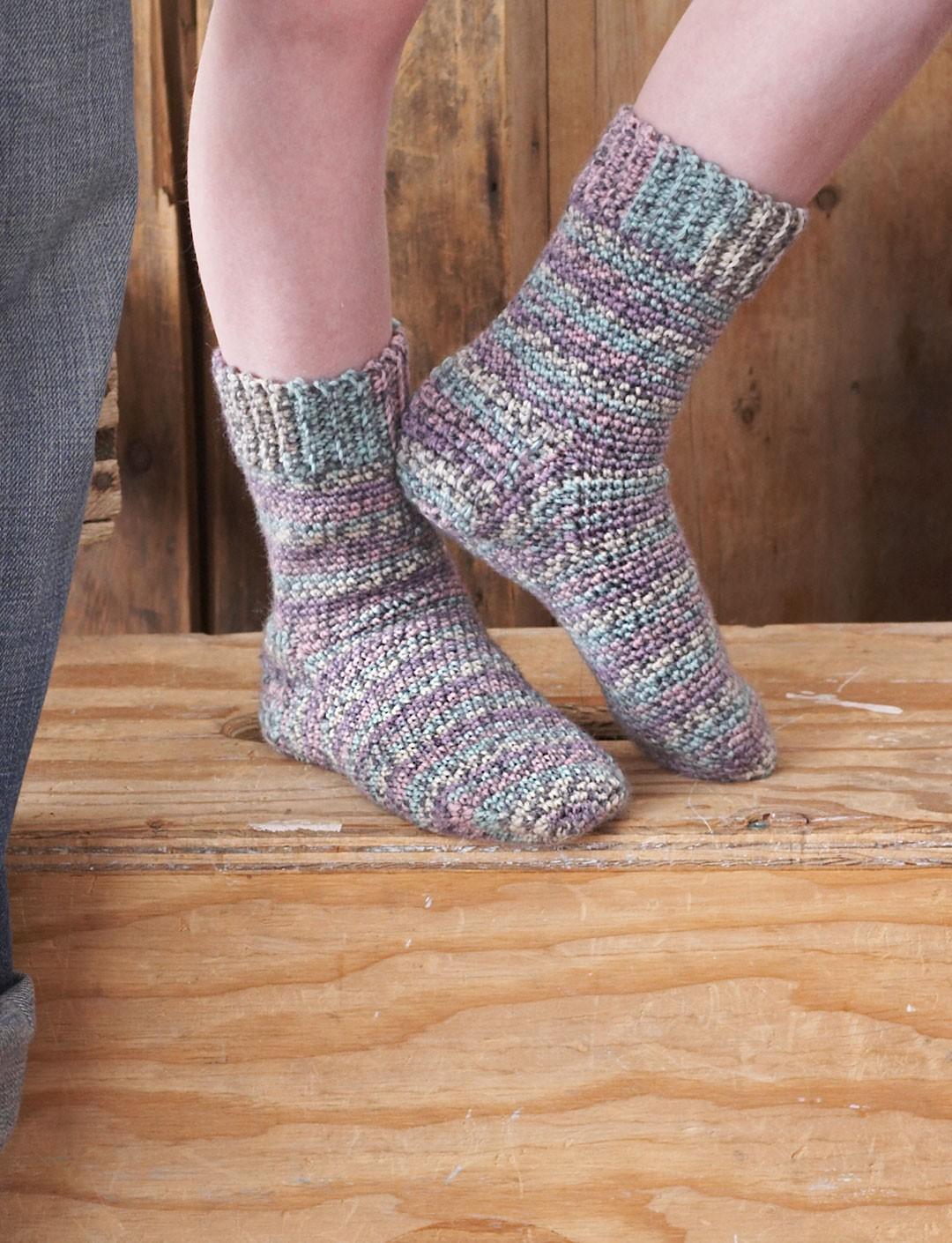 Crochet Sock Pattern: Easy & Quick