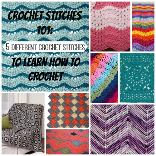 crochet stitches 101: 5 different crochet stitches to learn how to crochet yocohpu