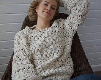 crochet sweater pattern pdf - sensum sweater - cabled sweater pattern ipqptoz