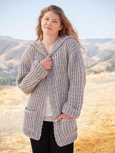 crochet sweater patterns annieu0027s signature designs: hoodie cardigan crochet pattern zwunyvp