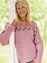 crochet sweater patterns blushing rose pullover ltxrzyp