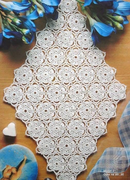 crochet table runner floral diamond table runner olmxcsj