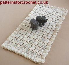 crochet table runner free crochet pattern for a frilled table runner by patterns for crochet. cgcdjmz