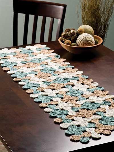 Crochet table runner – Make A Bare Table Look