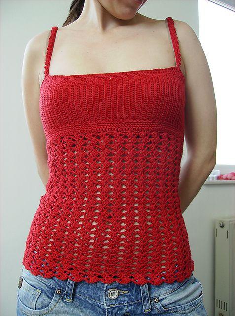 crochet tank top ravelry: project gallery for custom tank top version #1 ftvjhxc