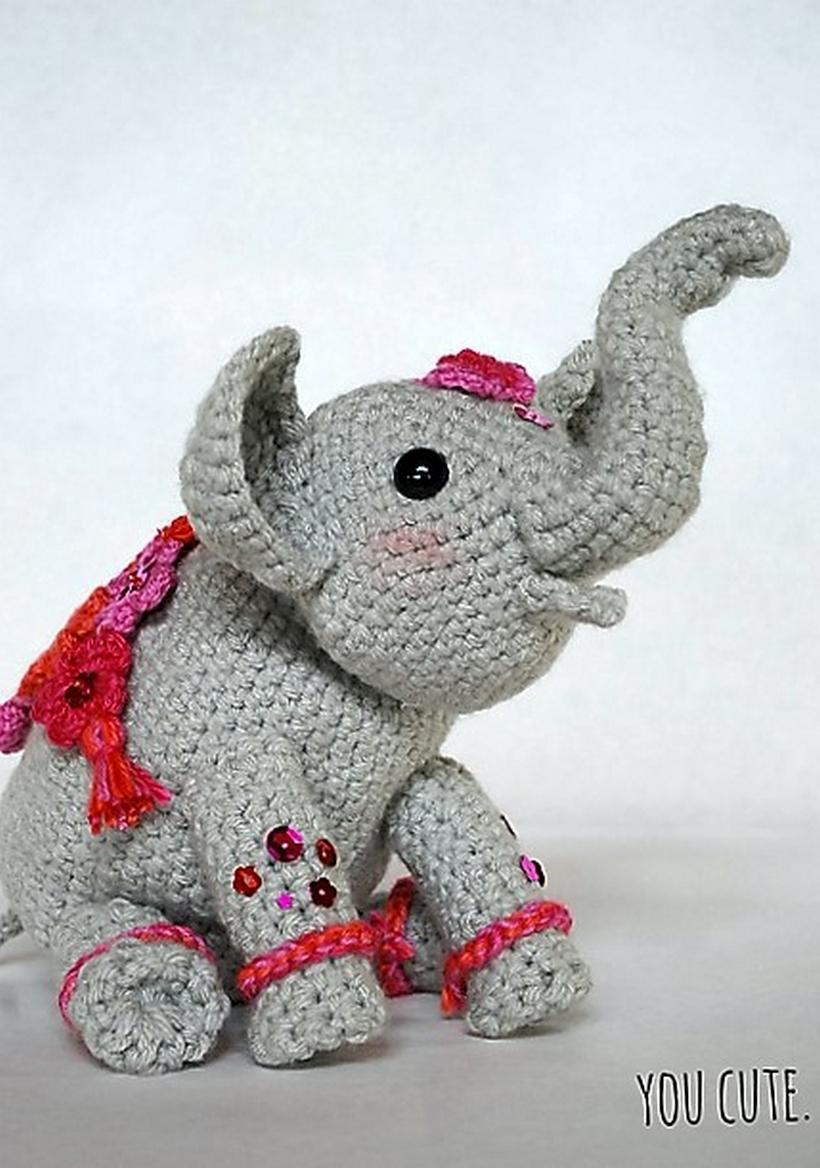 crochet toys amigurumi-elephant qnotgdi