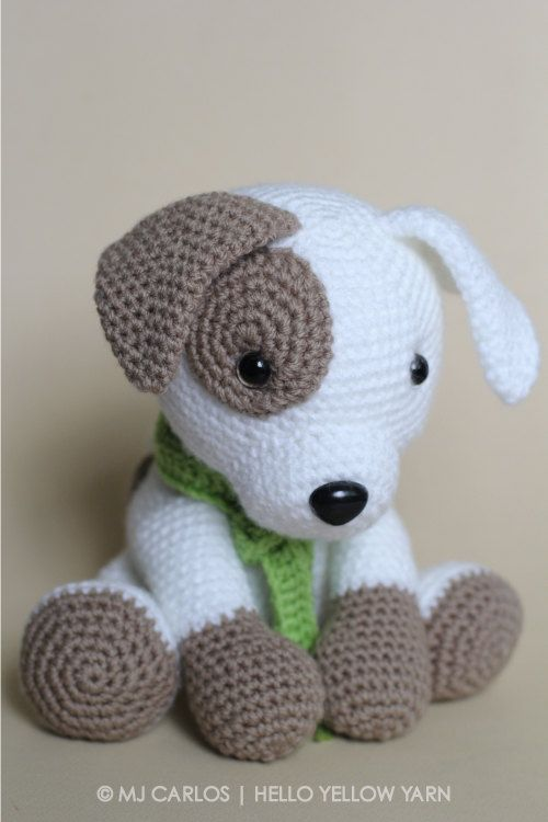 crochet toys crochet amigurumi puppy dog pattern only jack by helloyellowyarn wqdoyrf